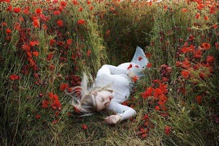 sleeping in the field